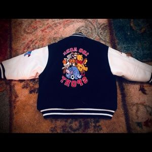 Winnie the Pooh and friends varsity style jacket